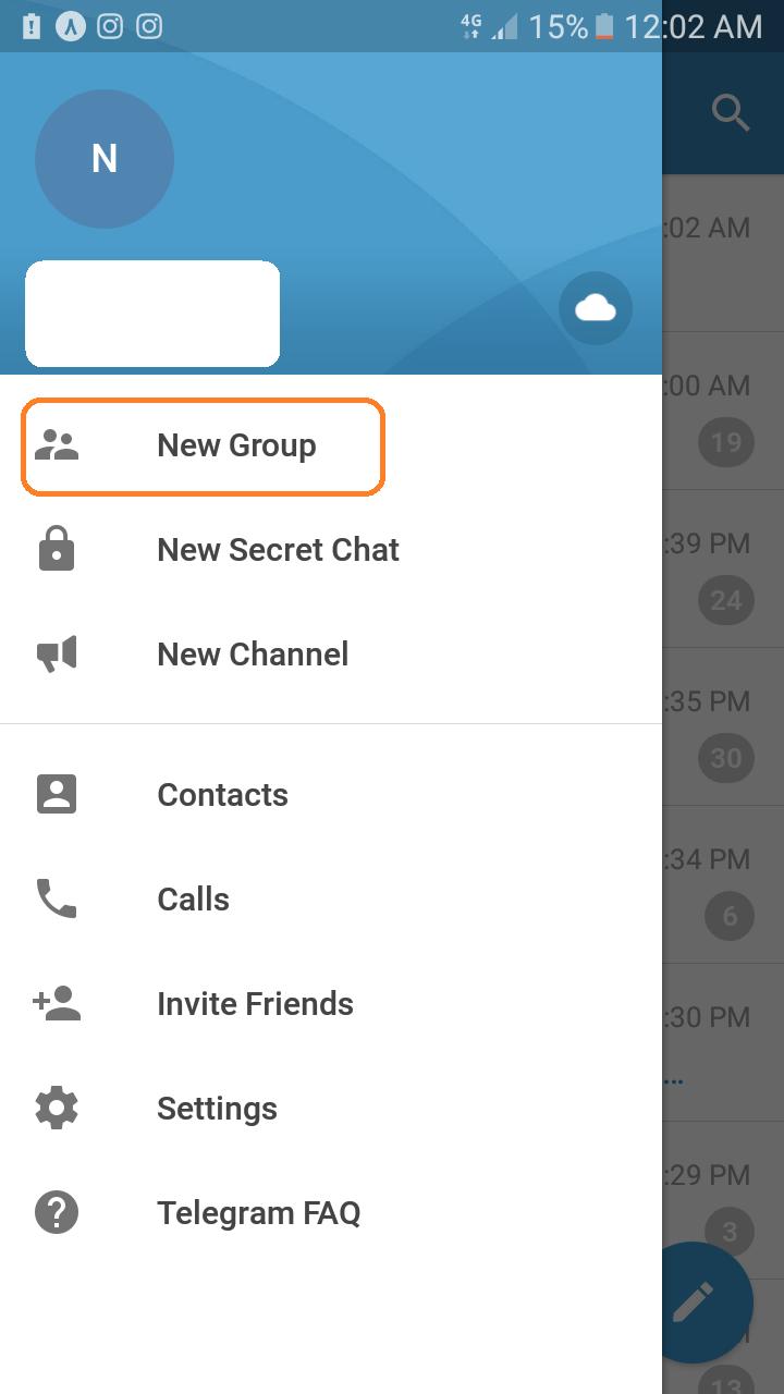 ایجاد گروه در تلگرام